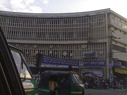 Shyamoli Cinema Hall is just a memory. A 14-story shopping mall is being built in its place. Image courtesy Wikipedia