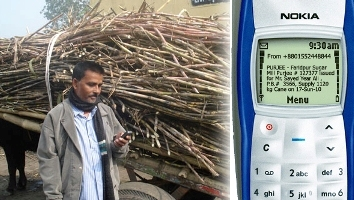 Sugarcane farmers can receive their purchase order 'purjee' quickly via SMS saving time and harassment. Image courtesy Digital Bangladesh Blog.