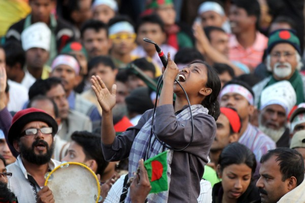 Demonstration Continues at Shahbag. Image by Zahidul Salim. Cpyright Demotix (18/2/2013)
