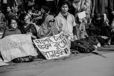 In Shahbag, protesting.