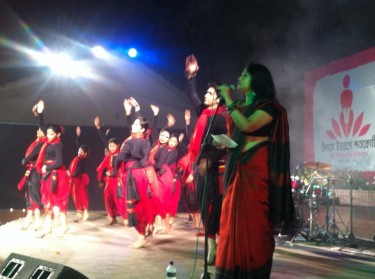 Bidrohi- an inspiring dance performed by Shadhona at Shilpakala Academy.