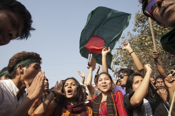 The Shahbagh protesters burst out into joy after hearing that the three-member International Crimes Tribunal – 1 handed death penalty to the top Jamaat-e-Islami leader Delawar Hossain Sayedee.