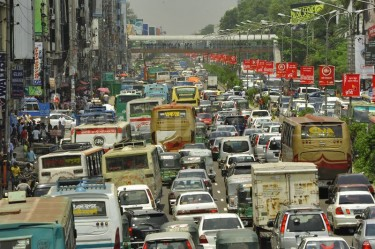 Huge traffic of Dhaka city. Photo Firoz Ahmed. Copyright Demotix